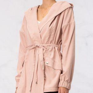 HYFVE Blush Pink Katie Cargo Wrap Jacket